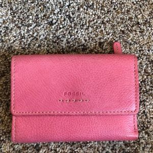 Pink Fossil Wallet
